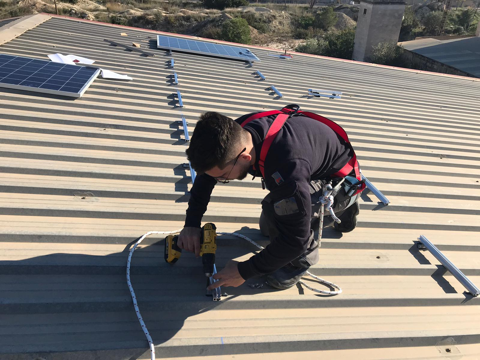 Instalando Panel Solar